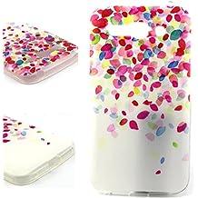 Dokpav® Carcasas de Alcatel One Touch Pop C9 Caso Case, Funda del Teléfono Celular Delgado y Elegante con Material de TPU Suave para Alcatel One Touch Pop C9 (Pétalos)