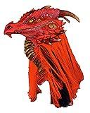 Horror-Shop Rote Brimstone Drachenmaske mit Mähne aus Kunsthaar rot