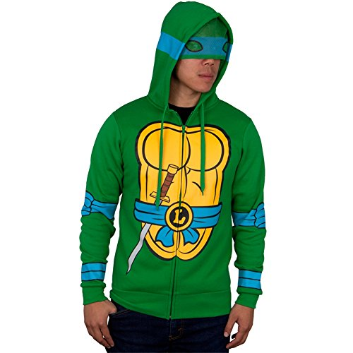 (Teenage Mutant Ninja Turtles - ich bin Leonardo Kostüm Zip Hoodie - X-Large)