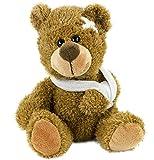 Plüschteddybär mit Verband 21 cm kranker Teddy verletzter Plüschbär Plüsch braun