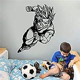 stickers muraux 3d Goku Super Saiyan Dragon Ball Autocollant Autocollant Db De Voiture Pour Le Dortoir De La Chambre Des Ados