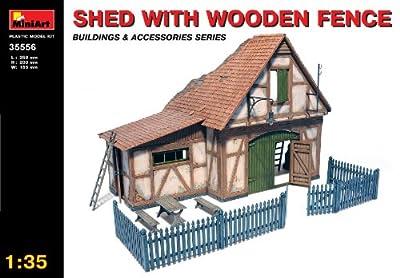 MiniArt 35556 - Hütte mit Holzzaun von MiniArt
