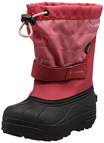 Columbia Girls' Childrens Powderbug Plus Ii Snow Boots, Pink (Wild Salmon/ Rosewater), 12 UK 31 EU