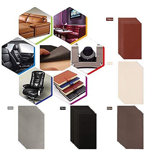 lingzhuo-shop 5/10 Stück Auto Ledersofa geeignet für Sofa Möbel Sofa Autositz Handtasche Jacke Selbstklebende Leder Patch Reparatur Patch Set 3,9 x 7,9 Zoll/Stück - Multi-color Patch