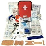 MediSpor 100-teiliges Erste Hilfe Set, halbharte Tasche (rot). -