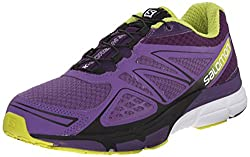 Salomon Women's X-scream 3d Training Running Shoes, Rain Purplecosmic Purplegecko Green, 5 Uk (38 Eu)