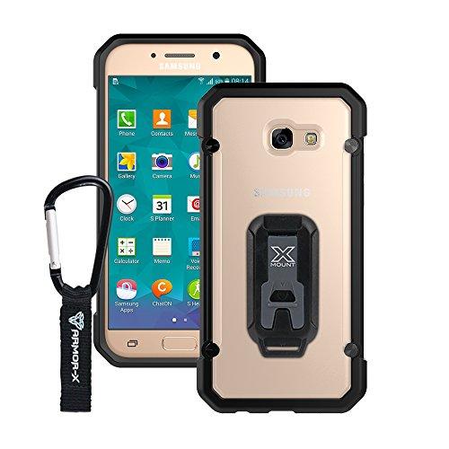 Armor-X Handyhülle mit Bumper für das INNOVATIVES HALTERUNGSSYSTEM mit zahlreichem Zubehör für Helm, Fahrrad, Auto, Sport, Laufen Schutzhülle Cover Smartphone Hülle (Samsung Galaxy A3)