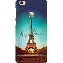 AMEZ Letv Le 1S High Quality Printed Back Case (Live Your Dream Paris Eiffel Tower)