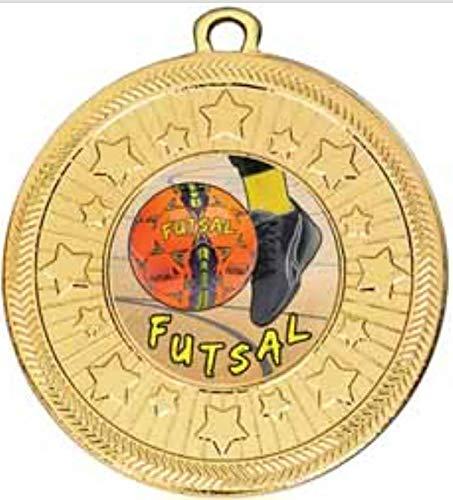 alisierte Medaille VF Star Futsal Gold 50 mm Durchmesser & Band ()