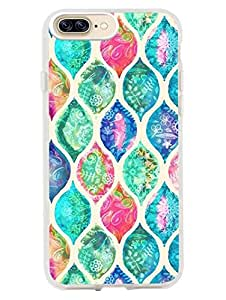 iPhone 8 Plus/ iPhone 7 Plus Cases & Covers - Moroccan Art - Hand Painted Background - So Girly - Designer Printed Hard Cases with Soft TPU Edges