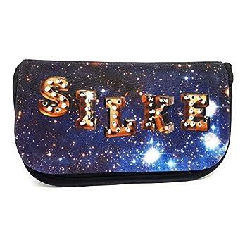 Personalisierte Kosmetiktasche Sterne mit Namen. Kosmetiktasche mit Namen im Stern-Design. Geburtstagsgeschenk für Mädchen und Frauen.