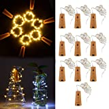 XCSOURCE 10pcs 1m 20 LED Cork Shaped LED Night Starry Light Copper Wire Stopper Wine Bottle Lamp Party Decoration for Wedding Xmas Warm White LD961