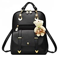 Hotrose Christmas Gift Sweet PU Leather School College Travel Outdoor Bag Girls Backpack