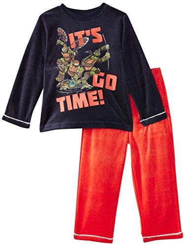 Nickelodeon Jungen Zweiteiliger Schlafanzug Teenage Ninja Mutant Hero Turtles NH2154, Gr. 98 (Herstellergröße: 3 ans), Blau (Marine (Teenage Ninja Schlafanzug Turtles Mutant)