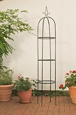 Rosensäule Rankgitter Romantika, Metall ~ dunkelgrün von Mendler bei Du und dein Garten