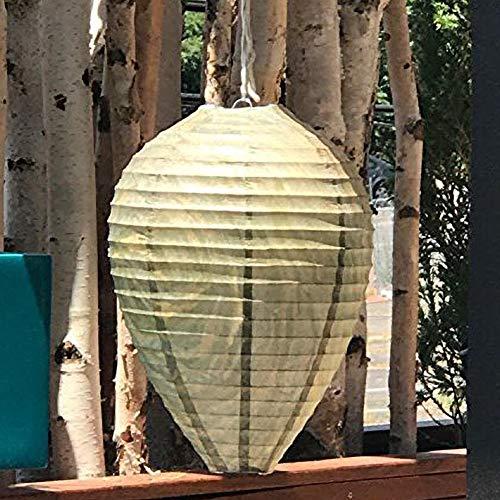 SDGDFXCHN 3pcs guêpe Dissuasive Abeilles frelons Faux nid de guêpe simulé dissuasif Conduire la Lanterne de Ruche
