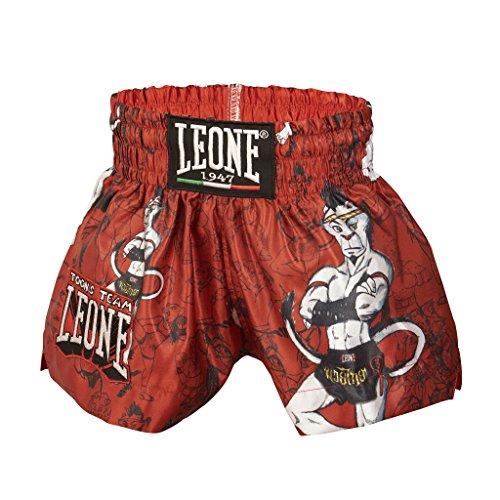 Leone 1947 ABJ01 Pantalones Cortos de Boxeo, Unisex - Niño, Rojo, S