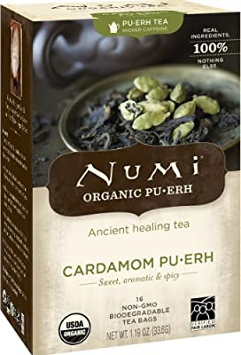 Numi Tea B13547 Numi cardamome Pu-erh Tea-Bag 6x16