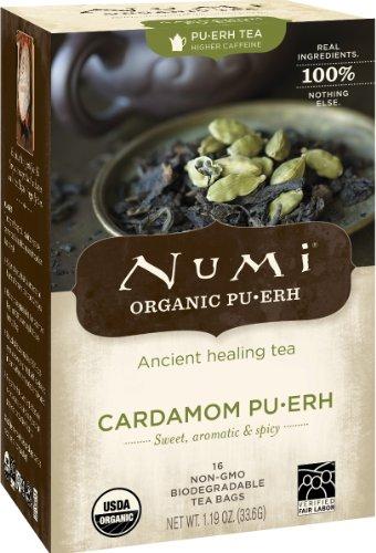 Numi Tea Pu-erh Tea Cardamom, Cardamom 16 bags