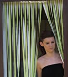 Wohnwagen-Türvorhang, Fliegengitter, Insektenschutz, Streifenvorhang -Limette & Weiss- 62cm breit
