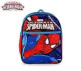 MEDIA WAVE store SP16105 Zaino Scuola Asilo elementari e Tempo Libero Spiderman 31x25x10 cm