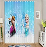Cartoon Anime Tende oscuranti Tende pensili per Camera da Letto per Bambini Frozen @ W46 * L90
