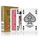 Carte Modiano Poker Golden Trophy 4 Standard Index dorso Rosso
