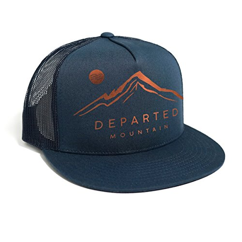 DEPARTED Herren Mesh Trucker Hat mit Print / Aufdruck - Snapback Cap - No. 50, coastal navy