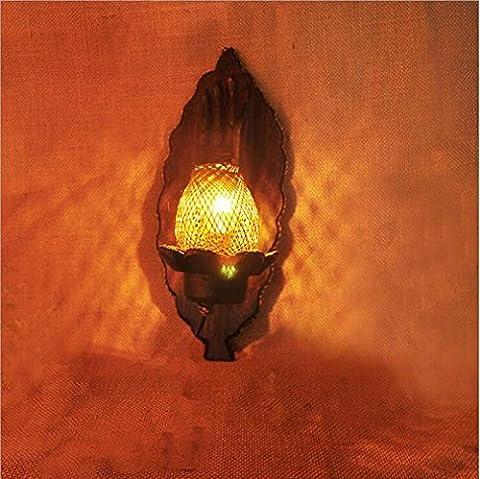Manuell Projektor Wandtattoo Romantische von Massivholz kreativen Prozess Erwärmung E14Schraube Mund Bracket Licht Spannung: 111V ~ 240V