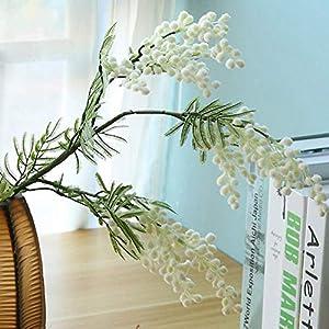 SparY Flores Artificiales Acacia Judía, Artificial Decoración Floral Ramo, Decorativo Flores Artificiales para Boda Fiesta Hogar Bricolaje Decoración – Amarillo, Free Size