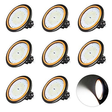 Anten 8per LED Hallenbeleuchtungen Industriehallenbeleuchtung UFO Industrielampe Led High Bay Licht Kaltweiß(6000~6500k) 150W Wasserdicht IP65 TÜV-Zertifikat SMD2835 AC100-244V