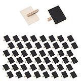 Mehrondo 50 Stück Kleine Tafelklammern EX210 ideal für Namensschilder, Memotafeln und zum Basteln