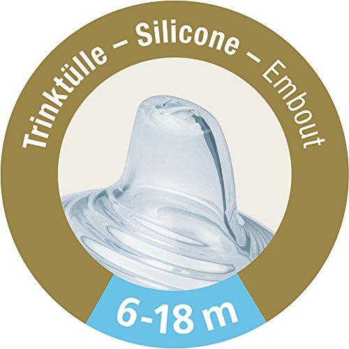 Nuk Nature Sense Trinklernbecher, Auslaufsicher, Extra Breite & Weiche Trinktülle, Auslaufsicher, 6-18 Monate, BPA-frei, 150ml, Grün - 6