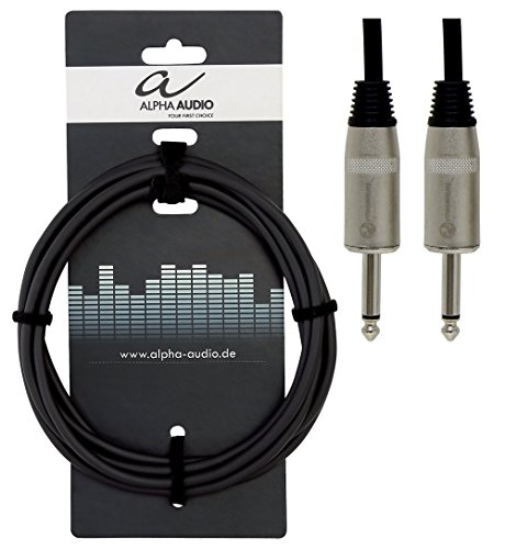 Alpha Audio 190640 Pro Line Lautsprecherkabel (15 m, Monoklinke auf Monoklinke)