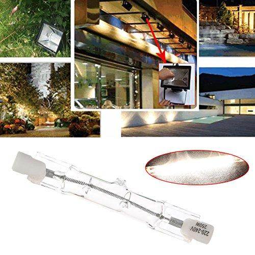 mingruie T3halógeno bombillas R7S doble extremo filamento Foco luces 220–240V 78mm, 250W