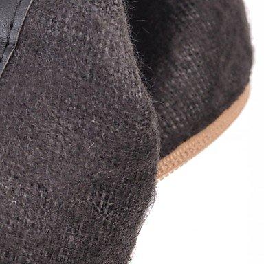 GLL&xuezi Da donna Stivaletti Comoda Innovativo Stivaletti alla caviglia Primavera Inverno Finta pelle Casual A pois Quadrato Nero Beige Grigio 7,5 beige