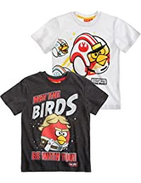 Angry Birds Star Wars Chicos T-Shirts lote de 2 - Blanco