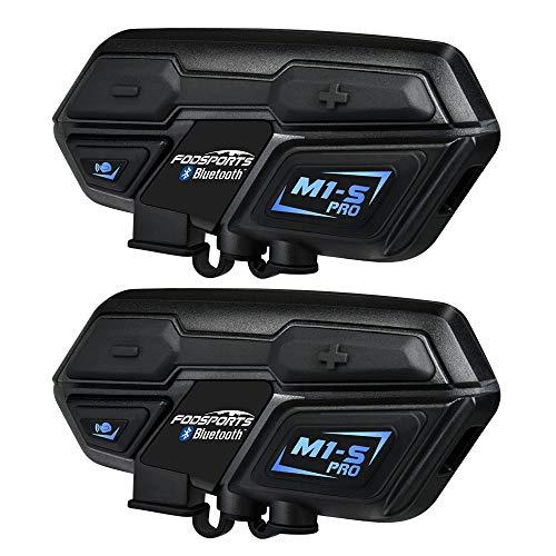 BT Intercom Headset Fodports auriculares bluetooth casco moto intercomunicador motorbike communication system...