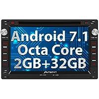 PUMPKIN Android 7.1 Octa Core Autoradio DVD Player 32GB + 2GB für VW PASSAT GOLF JETTA CHICO SHARAN GOLF TRANSPORTER CITI mit GPS Navi unterstützt Bluetooth WLAN DAB+ Subwoofer USB MicroSD 7 Zoll