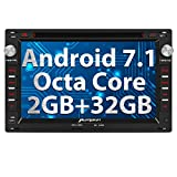 PUMPKIN Android 7.1 Octa Core Autoradio DVD Player 32GB + 2GB für VW GOLF PASSAT JETTA CHICO SHARAN GOLF TRANSPORTER CITI mit Navi unterstützt Bluetooth DAB+ WLAN Subwoofer USB MicroSD 7 Zoll (Android 7.1 Autoradio)
