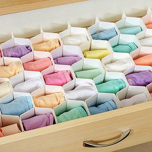 Joysoul, tiefer Schubladen-Organizer aus Kunststoff, Trennwände, 18Fächer für Socken, Unterwäsche, Schmuck, Handschuhe, Strumpfhosen, Krawatten, Bastel-Zubehör