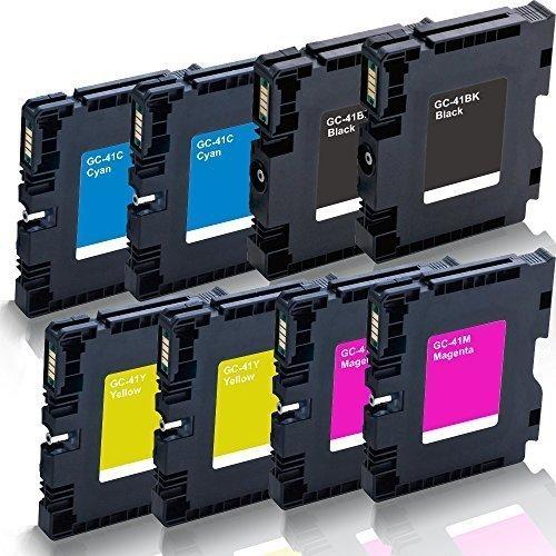 Preisvergleich Produktbild 8x kompatible Druckerpatronen für Ricoh Aficio SG 2100 SG 2100 N SG 3100 snw SG 3110 dn SG 3110 dnw SG 3110 n SG 3110 sfnw SG 7100 dn SG-K 3100 DN Black Cyan Magenta Yellow - GC-41 GC41 - Color Pro Serie