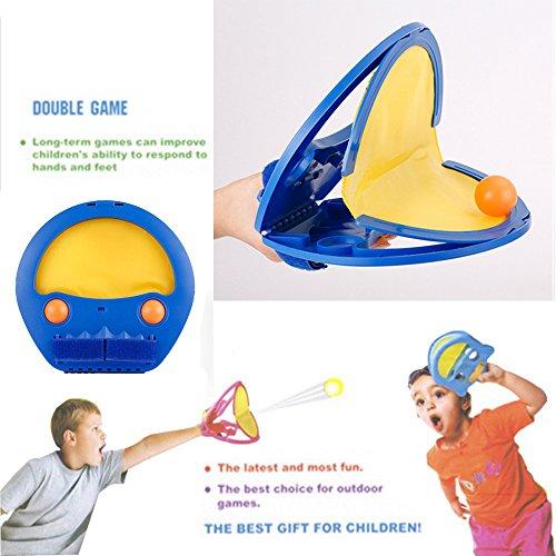 Funwill Paddel Catch Toss und Catch Ball Spiel Set. Indoor Outdoor Spiele Familie Strand Spiele für Kinder und Kinder und Erwachsene. Pingpong Spiel- und für Partner 4balls mit 2Paddeln