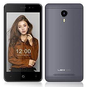 EasySMX [ Dernière Version Leagoo Z5C 5'' pouces 3G Smart Phone Quad Core 5MP Caméra 8GB ROM + 1G RAM ] Android 6.0 Dual SIM Carte 2G/3G Smartphone Débloqué 5.0'' Ecran Tactile Téléphone 5MP Rear Camera 2300mAh Lithium Batterie (Gris)