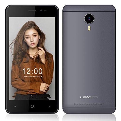 EasySMX Leagoo Z5C Smartphone 5.0 Pulgadas Android 6.0 3G SC7731c Cortex A7 Quad Core a 1.3GHz con 1GB RAM + 8GB ROM GSM & WCDMA Doble SIM Tarjeta (Gris)
