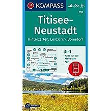 Titisee-Neustadt: 3in1 Wanderkarte 1:25000 mit Aktiv Guide inklusive Karte zur offline Verwendung in der KOMPASS-App. Fahrradfahren. Langlaufen. (KOMPASS-Wanderkarten, Band 893)