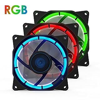 anidees AI Halo 80mm Hohe Luftstrom RGB LED Gehäuselüfter for PC Case CPU-Kühler und Radiator Dreifach-Set gehören Controller -RGB