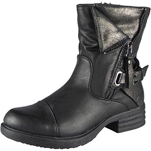 Stivali 36 Invernali Alla La Caviglia Dimensione 41 Battaglia Nero Dell'esercito Nuova Donne Fibbia 8ZTqP0w