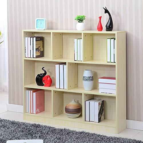 HM&DX Aufbewahrung Bücherregal 8 würfel, Holz Offenen Bücherschrank Veranstalter Schrank Display-Rack Für Haus büro-Ahorn -