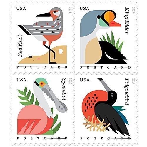 coastal-birds-stamps-booklet-of-20-x-postcard-forever-us-postage-stamps-usps-new